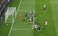 21st August 2020, Rheinenergiestadion, Cologne, Germany; Europa League Cup final Sevilla versus Inter Milan;  Luuk de Jong of Sevilla FC scores his team's second goal for 2-1