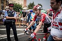 Carl Fredrik Hagen (NOR/Lotto-Soudal) at the finish<br /> <br /> Stage 8: Valls to Igualada (167km)<br /> La Vuelta 2019<br /> <br /> ©kramon