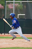 Texas Rangers London Lindley (6) during an instructional league game against the Seattle Mariners on October 5, 2015 at the Surprise Stadium Training Complex in Surprise, Arizona.  (Mike Janes/Four Seam Images)