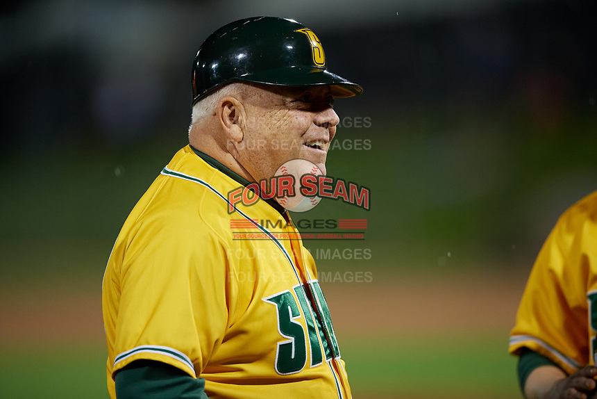 Siena Saints Tony Rossi (40) during a game against the UCF Knights on February 14, 2020 at John Euliano Park in Orlando, Florida.  UCF defeated Siena 2-1.  (Mike Janes/Four Seam Images)