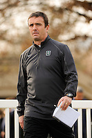 Dartmouth Big Green head coach Jeff Cook. Dartmouth defeated Monmouth 4-0 during the first round of the 2010 NCAA Division 1 Men's Soccer Championship on the Great Lawn of Monmouth University in West Long Branch, NJ, on November 18, 2010.