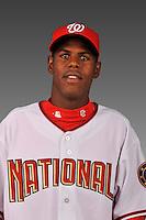 14 March 2008: ..Portrait of Yunior Novoa, Washington Nationals Minor League player at Spring Training Camp 2008..Mandatory Photo Credit: Ed Wolfstein Photo