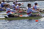 Rowing, Germany, Men's Pair, Andreas Kuffner, Eric Johannesen, stroke, Monday 1 November, heat, 2010 FISA World Rowing Championships, Lake Karapiro, Hamilton, New Zealand,