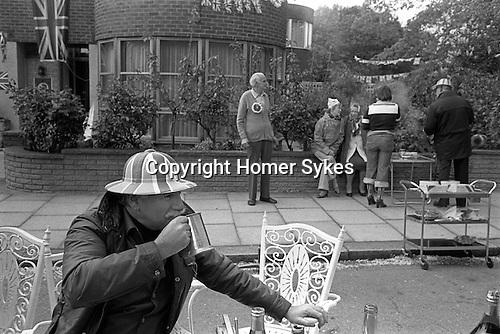 Silver Jubilee Street Party 1977  UK. Hampstead north London.<br /> <br /> My ref 7/2066/,1977,