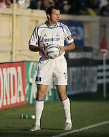 23 April 2005: Wizards' Chris Klein in action against Earthquakes at Spartan Stadium in San Jose, California.   Earthquakes defeated Wizards, 3-2.  Credit: Michael Pimentel / ISI