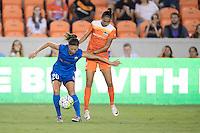 Houston, TX - Sunday Sept. 25, 2016: Rumi Utsugi, Poliana Barbosa during a regular season National Women's Soccer League (NWSL) match between the Houston Dash and the Seattle Reign FC at BBVA Compass Stadium.