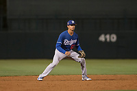 Los Angeles Dodgers third baseman Moises Perez (62) during a Minor League Spring Training game against the Seattle Mariners at Camelback Ranch on March 28, 2018 in Glendale, Arizona. (Zachary Lucy/Four Seam Images)