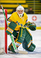 8 February 2020: University of Vermont Catamount Goaltender Natalie Ferenc, a Freshman from Orchard Lake, MI, in first period action against the University of Connecticut Huskies at Gutterson Fieldhouse in Burlington, Vermont. The Huskies defeated the Lady Cats 4-2 in the first game of their weekend Hockey East series. Mandatory Credit: Ed Wolfstein Photo *** RAW (NEF) Image File Available ***