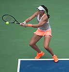 Laura Robson (GBR) loses to Na Li (CHN), 6-2, 7-5 at the US Open being played at USTA Billie Jean King National Tennis Center in Flushing, NY on August 30, 2013