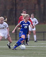 Hofstra University midfielder Brittany Butts (25) at midfield. Boston College defeated Hofstra University, 3-1, in second round NCAA tournament match at Newton Soccer Field, Newton, MA.