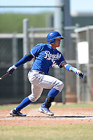 Kansas City Royals outfielder Samir Duenez (34) during an instructional league game against the Seattle Mariners on October 2, 2013 at Surprise Stadium Training Complex in Surprise, Arizona.  (Mike Janes/Four Seam Images)
