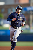 San Antonio Missions third baseman Ty France (8) runs the bases during a game against the Tulsa Drillers on June 1, 2017 at ONEOK Field in Tulsa, Oklahoma.  Tulsa defeated San Antonio 5-4 in eleven innings.  (Mike Janes/Four Seam Images)