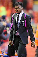 Liverpool's Daniel Sturridge arrives before the Barclays Premier League match between Liverpool and Swansea City played at The Anfield Stadium on November 29th 2015