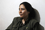 QANDIL, IRAQ:  Ronahi Serhat a PKK guerrilla in the Qandil mountains...The Kurdistan Workers' Party (PKK) is a pro-Kurdish party in Turkey deemed a terrorist group by the USA and the EU.  They are based in the Qandil mountains that make up the border between Iraq and Turkey...Photo by Kamaran/Najm