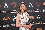 Natalia de Molina poses with Best Actress Goya award during 30th Goya Awards ceremony in Madrid, Spain. February 06, 2016. (ALTERPHOTOS/Victor Blanco)