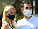 TOUR DE FRANCE 2020- UCI Cycling World Tour under Virus Outbreak. Stage 16th from La Tour-Du-Pin to Villard-De-Lans on the 15th of September 2020, La Tour-du-Pin, France. MArtin Fourcade poses with a fan
