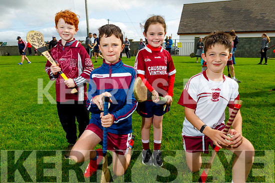 Ben O'Neill, Darragh and Amy O'Connor and Conor Walsh out in full support of Causeway at the sports field on Sunday.