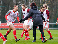 Anne Radermacher (Standard)(in black) pictured during the warm up before  a female soccer game between Standard Femina de Liege and RSC Anderlecht on the 9th matchday of the 2020 - 2021 season of Belgian Scooore Womens Super League , saturday 12 th of December 2020  in Angleur , Belgium . PHOTO SPORTPIX.BE   SPP   SEVIL OKTEM