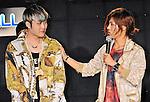 Sims and Kang Nam(MIB), Jun 24, 2013 : MIB, Tokyo, Japan, June 24, 2013 : Kang Nam(L) and SIMS of MIB speak during their showcase in Tokyo, Japan, on June 24, 2013.