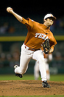 NCAA Baseball featuring the Texas Longhorns against the Missouri Tigers. Ruffin, Chance 3700  at the 2010 Astros College Classic in Houston's Minute Maid Park on Sunday, March 7th, 2010. Photo by Andrew Woolley