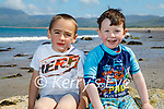 Best buddies sitting on the rocks on Castlegregory beach on Saturday, l to r: Nathan O'Sullivan and Kean Fitzgerald.