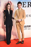 "Hannah Bagshawe and Eddie Redmayne<br /> arriving for the ""Aeronauts"" screening as part of the London Film Festival 2019 at the Odeon Leicester Square, London<br /> <br /> ©Ash Knotek  D3523 07/10/2019"