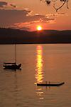 Sunset on Lake Sunapee. New London, NH