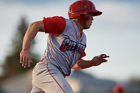 Williamsport Crosscutters Nate Fassnacht (4) running the bases during a NY-Penn League game against the Batavia Muckdogs on August 25, 2019 at Dwyer Stadium in Batavia, New York.  Williamsport defeated Batavia 10-3.  (Mike Janes/Four Seam Images)