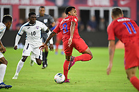 WASHINGTON, D.C. - OCTOBER 11: Weston McKennie #8 of the United States heel kicks the ball during their Nations League game versus Cuba at Audi Field, on October 11, 2019 in Washington D.C.