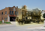 First Fire Station built in 1890 at present location of Fire Station #1 and parking lot on Appleton Ave. Menomonee Falls Wisconsin