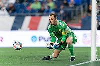 FOXBOROUGH, MA - AUGUST 4: Joe Willis #1 of Nashville SC makes a save during a game between Nashville SC and New England Revolution at Gillette Stadium on August 4, 2021 in Foxborough, Massachusetts.