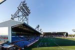 The Frank Beattie Stand at Rugby Park. Kilmarnock 2 Ayr United 0, Scottish Championship, August 2nd 2021. Following Kilmarnock's relegation in 2020-21, the first game of the new season is the Ayreshire Derby, the first league match between the teams in 28 years. Due to relaxation of Covid restrictions the match was played in front of a crowd of 3200 Kilmarnock fans. The game was shown live on BBC Scotland.