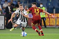23rd September 2021;  Stadio Olimpicom, Roma, Italy; Serie A League Football, Roma versus Udinese;Gerard Deulofeu of Udinese takes on  Pau López of Roma