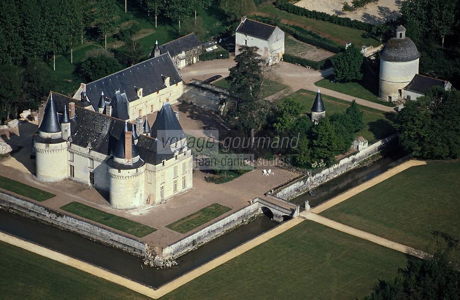 Europe/France/Pays de la Loire/49/Maine-et-Loire/Env de Saumur: château de Boumois -  vue aérienne