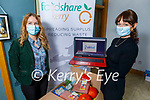 Foodshare Kerry's Courtney Sheehy (front right) stands with Rose O'Reilly as Foodshare Kerry finished their 5 week online cooking course.