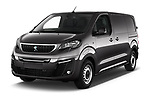 2020 Peugeot e-Expert FT-Premium 5 Door Cargo Van Angular Front automotive stock photos of front three quarter view