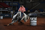 Brooke McGehee during the second round of barrel qualifiers at the WCRA Stampede at the E. Photo by Andy Watson