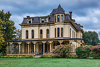 The Park-McCullough Mansion estate, Bennington, Vermont, USA.