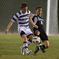 Number 8 ranked Charlotte beats number 16 ranked Coastal Carolina 1-0 on a goal by Thomas Allen in the 101st minute during the second overtime.  Owen Darby (7), Justin Portillo (8)