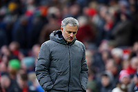 Manchester United manager Jose Mourinho during the Premier League match between Manchester United and Swansea City at the Old Trafford, Manchester, England, UK. Saturday 31 March 2018