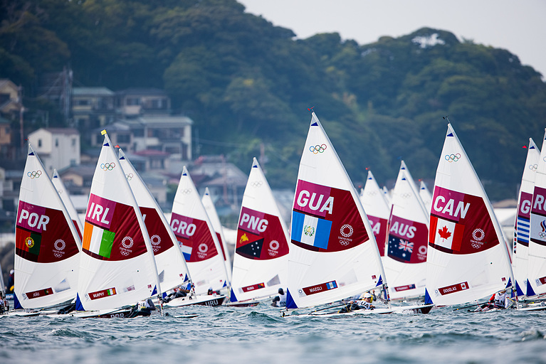Annalise Murphy in the thick of it during the second day of racing for the Women's Radial Class