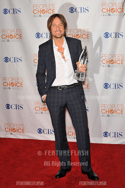 Keith Urban at the 2010 People's Choice Awards at the Nokia Theatre L.A. Live in Los Angeles..January 6, 2010  Los Angeles, CA.Picture: Paul Smith / Featureflash