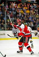 3 January 2009: St. Lawrence Saints' forward Alex Curran, a Junior from Perth-Andover, NB, in action against the University of Vermont Catamounts during the championship game of the Catamount Cup Ice Hockey Tournament at Gutterson Fieldhouse in Burlington, Vermont. The Cats defeated the Saints 4-0 and won the tournament for the second time since its inception in 2005...Mandatory Photo Credit: Ed Wolfstein Photo