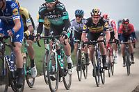 Belgian National Champion Yves Lampaert (BEL/Deceuninck-Quick Step)<br /> <br /> 74th Omloop Het Nieuwsblad 2019 (BEL)<br /> Gent – Ninove: 200km<br /> ©kramon