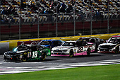 NASCAR XFINITY Series<br /> Drive for the Cure 300<br /> Charlotte Motor Speedway, Concord, NC<br /> Saturday 7 October 2017<br /> Daniel Suarez, Juniper Toyota Camry and Ryan Blaney, Discount Tire Ford Mustang<br /> World Copyright: Rusty Jarrett<br /> LAT Images