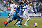 Getafe´s Rodriguez and Real Madrid´s James Rodriguez during La Liga match at Coliseum Alfonso Perez stadium  in Getafe, Spain. January 18, 2015. (ALTERPHOTOS/Victor Blanco)