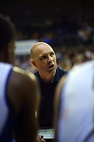 Giants coach Michael Fitchett during the National Basketball League match between Cigna Wellington Saints and Nelson Giants at TSB Bank Arena in Wellington, New Zealand on Saturday, 15 May 2021. Photo: Dave Lintott / lintottphoto.co.nz