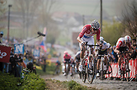 Mathieu Van Der Poel (NED/Correndon-Circus) in the final ascent up the Paterberg<br /> <br /> 103rd Ronde van Vlaanderen 2019<br /> One day race from Antwerp to Oudenaarde (BEL/270km)<br /> <br /> ©kramon