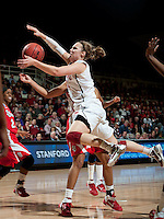 STANFORD, CA - March 21, 2011: Stanford Cardinal's Kayla Pedersen during Stanford's 75-51 win over St. John's during the second round of the NCAA tournament at Maples Pavilion in Stanford, California.