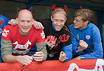St Johnstone FC Supporting CHAS Devils Dash….14.10.16<br />Pictured from left, Mike McClay CHAS Outdoor Events Co-Ordinator, Steven Anderson and Murray Davidson<br />Picture by Graeme Hart.<br />Copyright Perthshire Picture Agency<br />Tel: 01738 623350  Mobile: 07990 594431